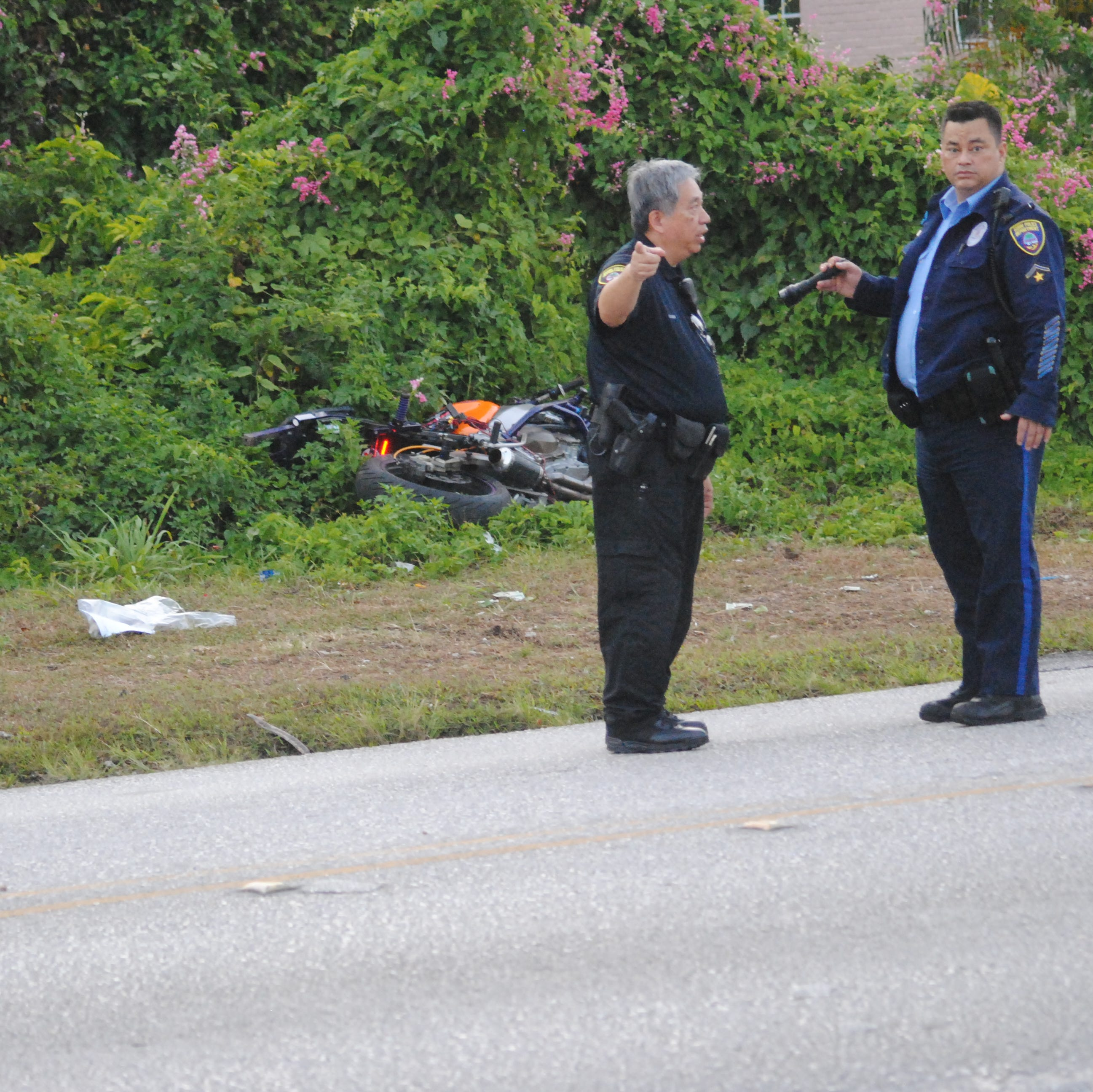 Motorcycle crash on Ypao Road leaves 41-year-old man in critical condition