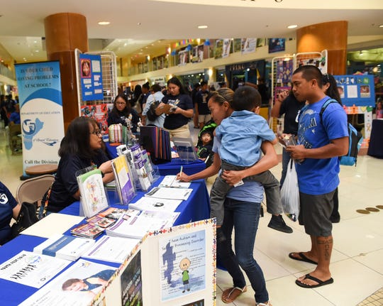 Families attend the 12th Annual Autism Awareness Fair at Agana Shopping Center in Hagåtña, April 6, 2019.