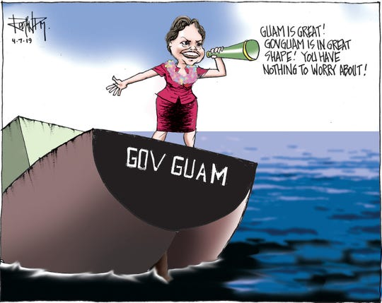 sunday cartoon on GovGuam for 04/07/19