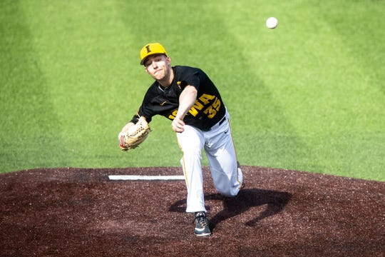 Iowa southpaw Cam Baumann threw five scoreless innings in the Hawkeyes' 1-0 win over UC Irvine Saturday at Duane Banks Field.
