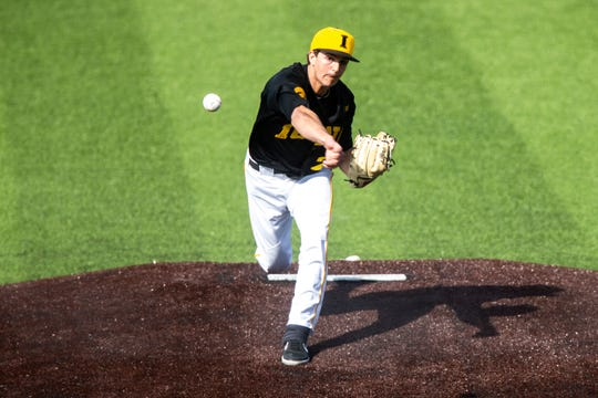 Iowa's Jason Foster was part of a Hawkeye bullpen unit that yielded five runs in Saturday's loss to Michigan State at Duane Banks Field.