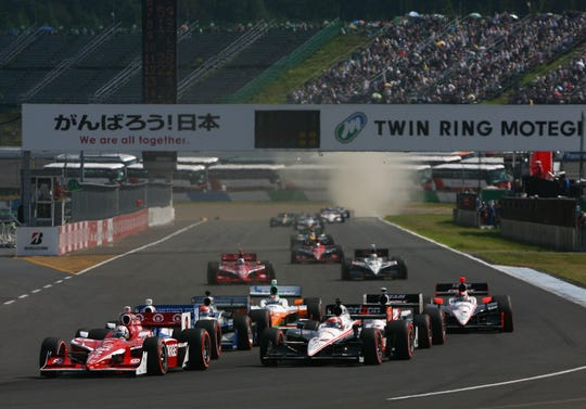 The start of  the Indy Japan 300 The Final, on the road course at the Twin Ring Motegi on Sept. 18, 2011 in Motegi, Japan.