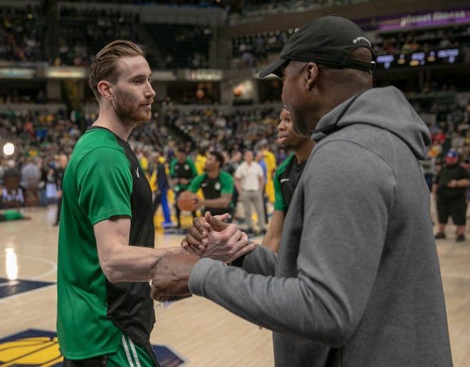 """Gordon Hayward of the Boston Celtics posted on his Twitter account: """"We cannot grow as a society until we eliminate all forms of racism against any race. Our focus every day should be on supporting each other and showing love for each other. Destroying people's hard work and dreams by burning down their businesses is not the solution."""""""