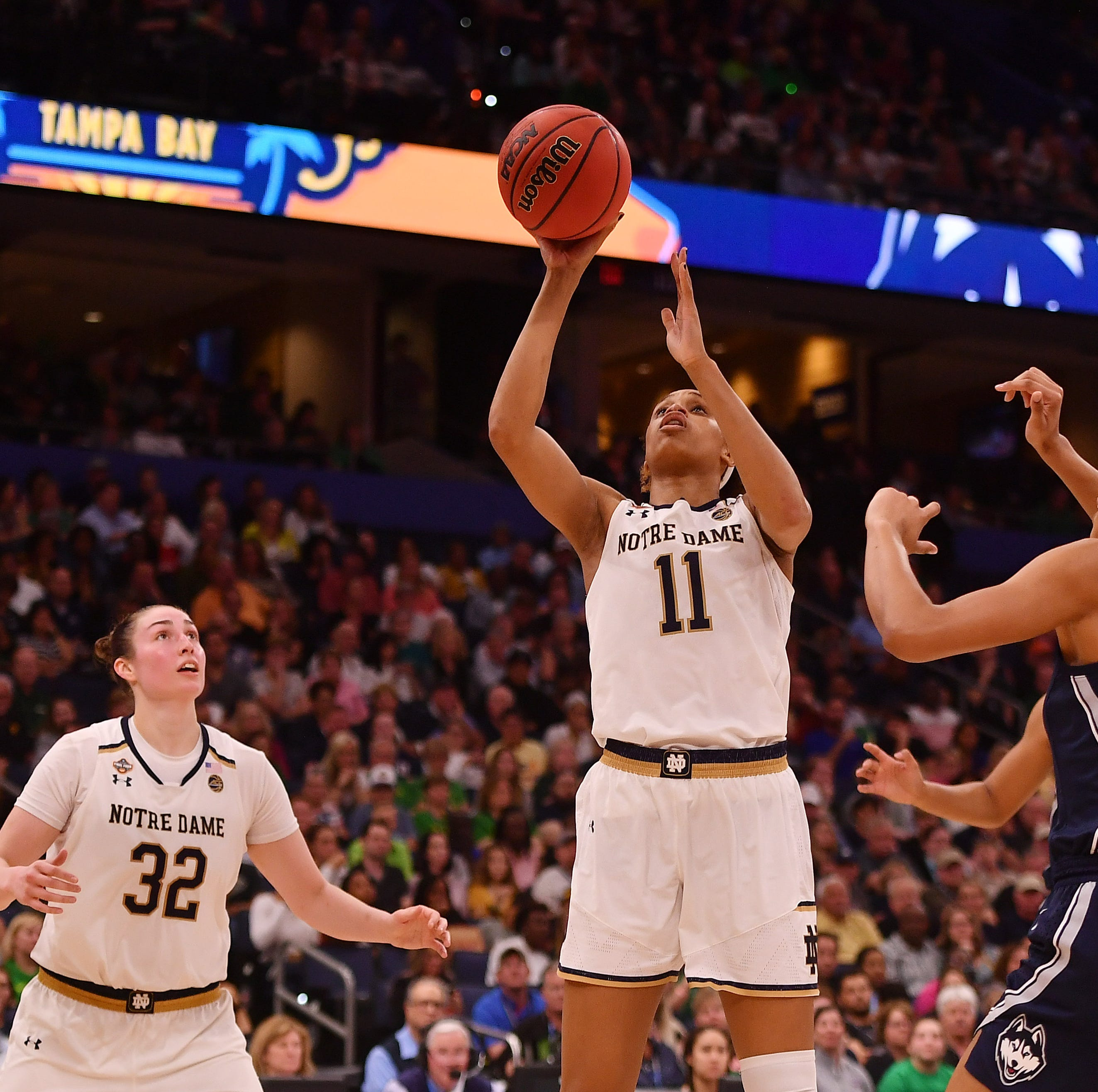 Notre Dame women headed back to title game after late rally to knock off UConn