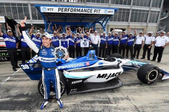 Rahal Letterman Lanigan Racing driver Takuma Sato took the pole Saturday at Barber Motorsports Park