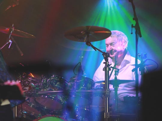 Pink Floyd drummer Nick Floyd performs with his Saucerful of Secrets band Friday at Old National Centre.