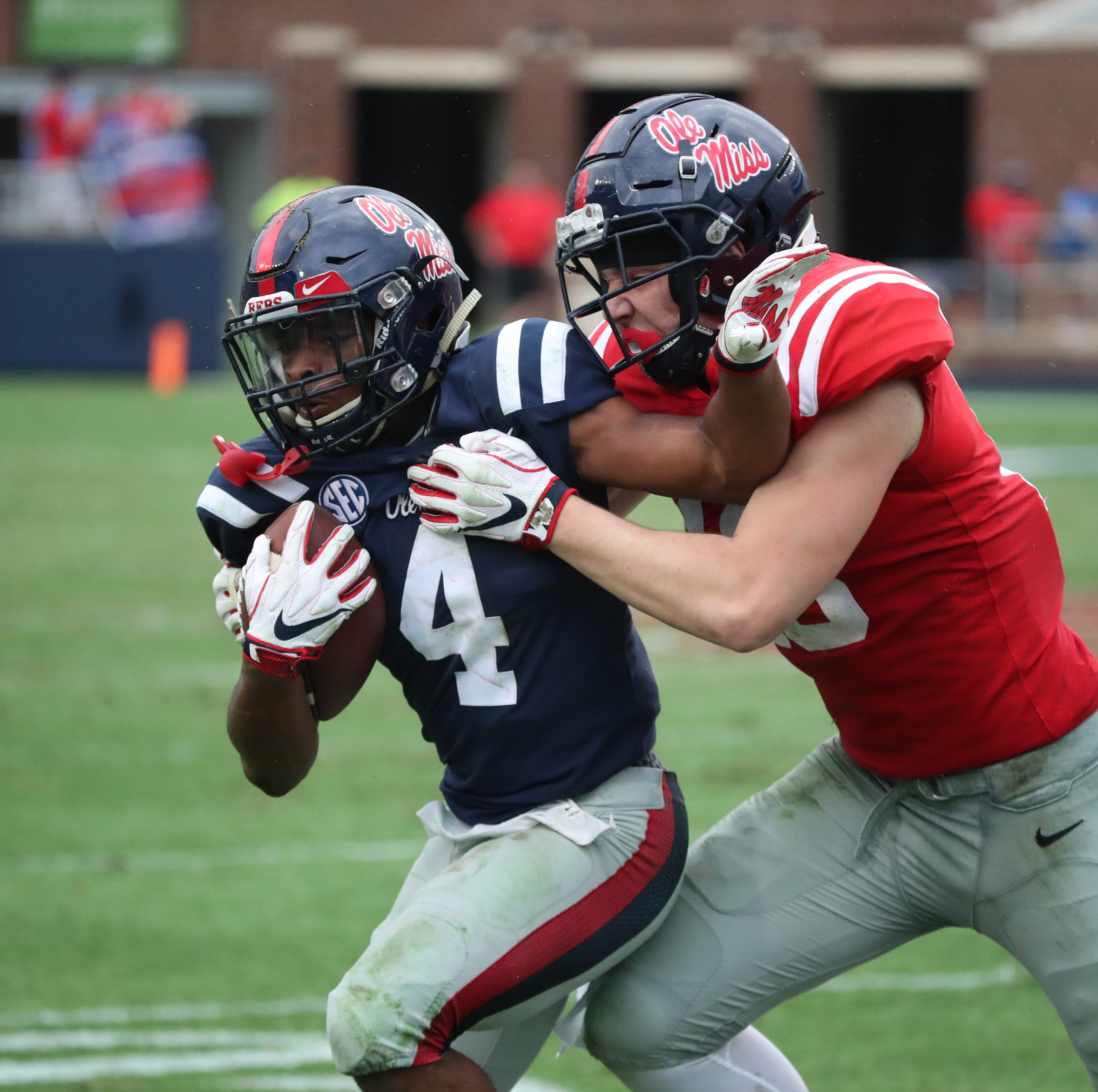Slot receiver slugfest: Tylan Knight, Elijah Moore star for Ole Miss in Grove Bowl