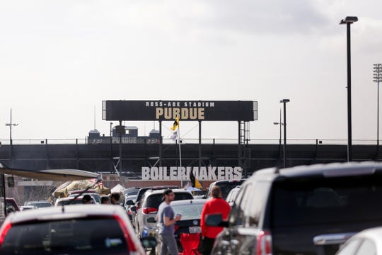 A new video ribbon board will be installed in the north end zone before the start of the 2019 season (Nikos Frazier | The Journal & Courier)