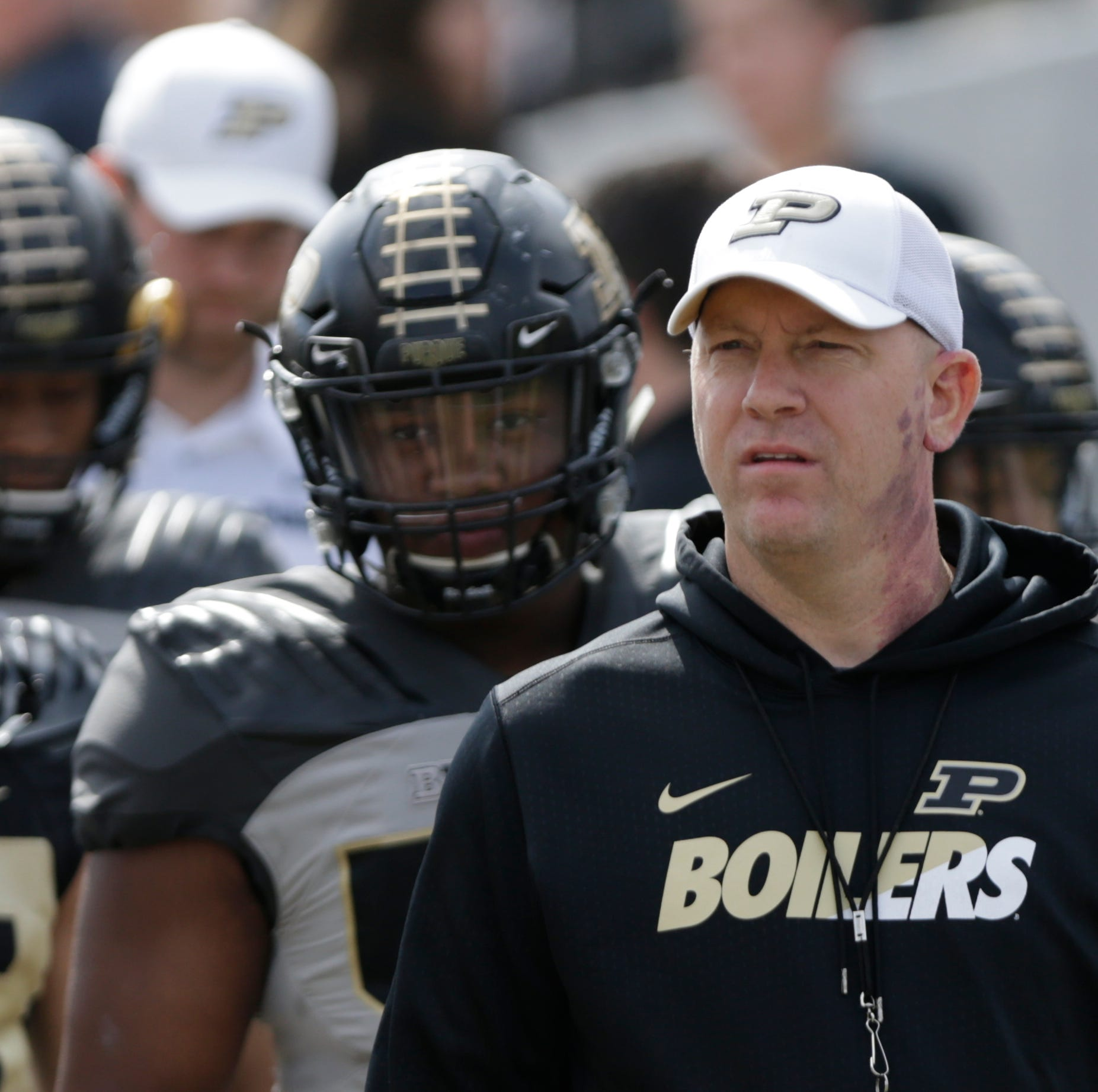 Purdue football coach Jeff Brohm awarded one-year contract extension