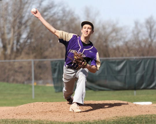 Fowlerville's Caden Flanery struck out eight and allowed only one run in a season-opening victory over Detroit Country Day.