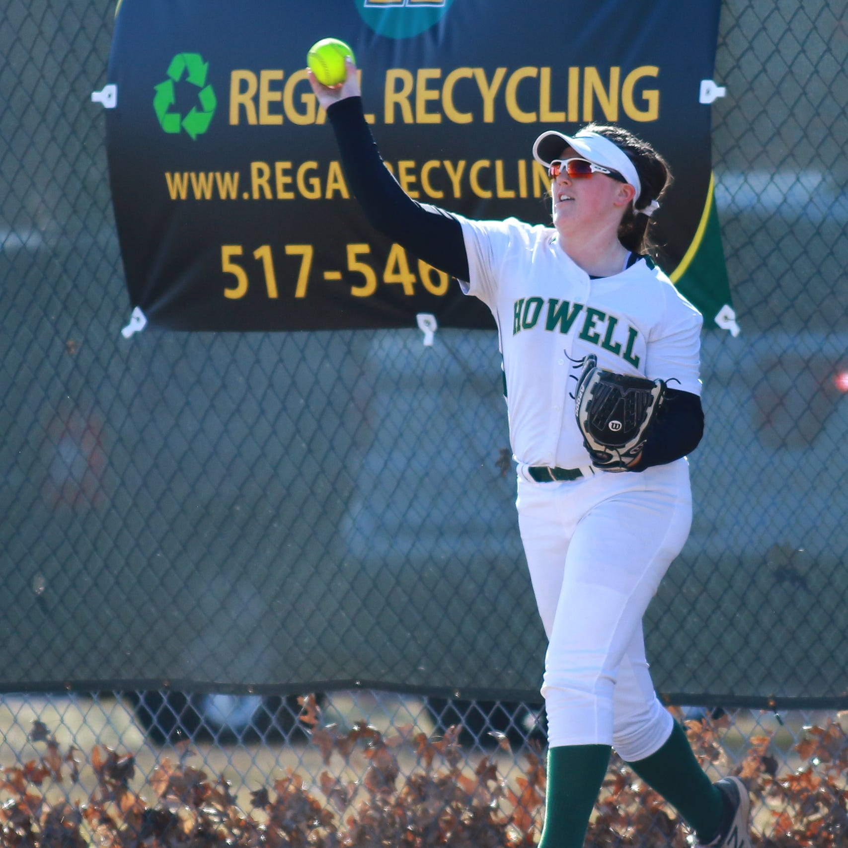 'It's April,' but Howell makes statement with softball rout of Hartland