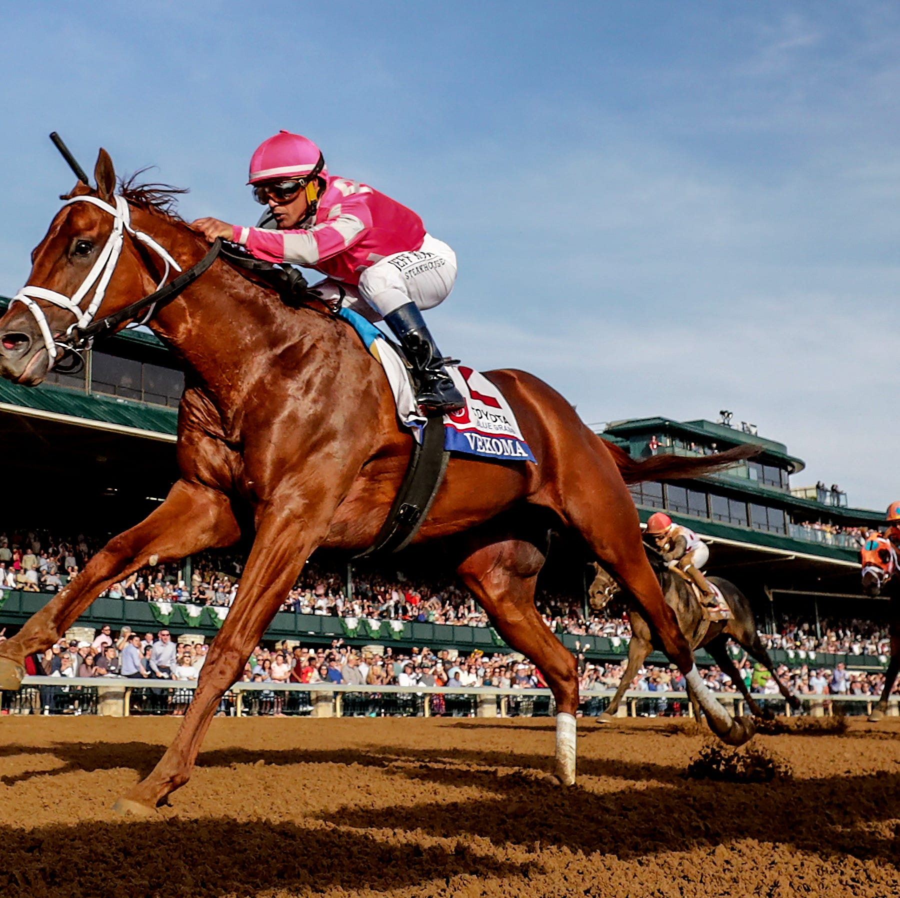 Vekoma wins Blue Grass, sending Louisville's George Weaver back to Kentucky Derby