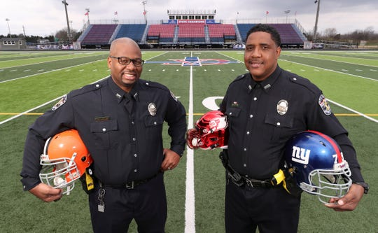 From the NFL to police force, duo brings different perspective to second career