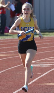 Ontario's Grace Maurer set a new school and Ontario Relays record in the 1600 with a time of 5:16.59 last week for one of the most impressive performances of the week.