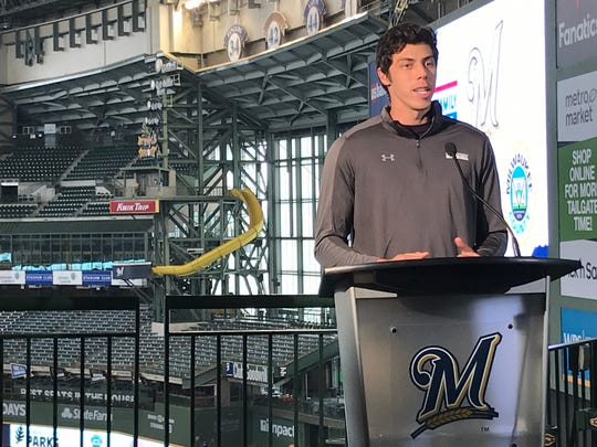 Milwaukee Brewers outfielder Christian Yelich named the American Family brand ambassador.