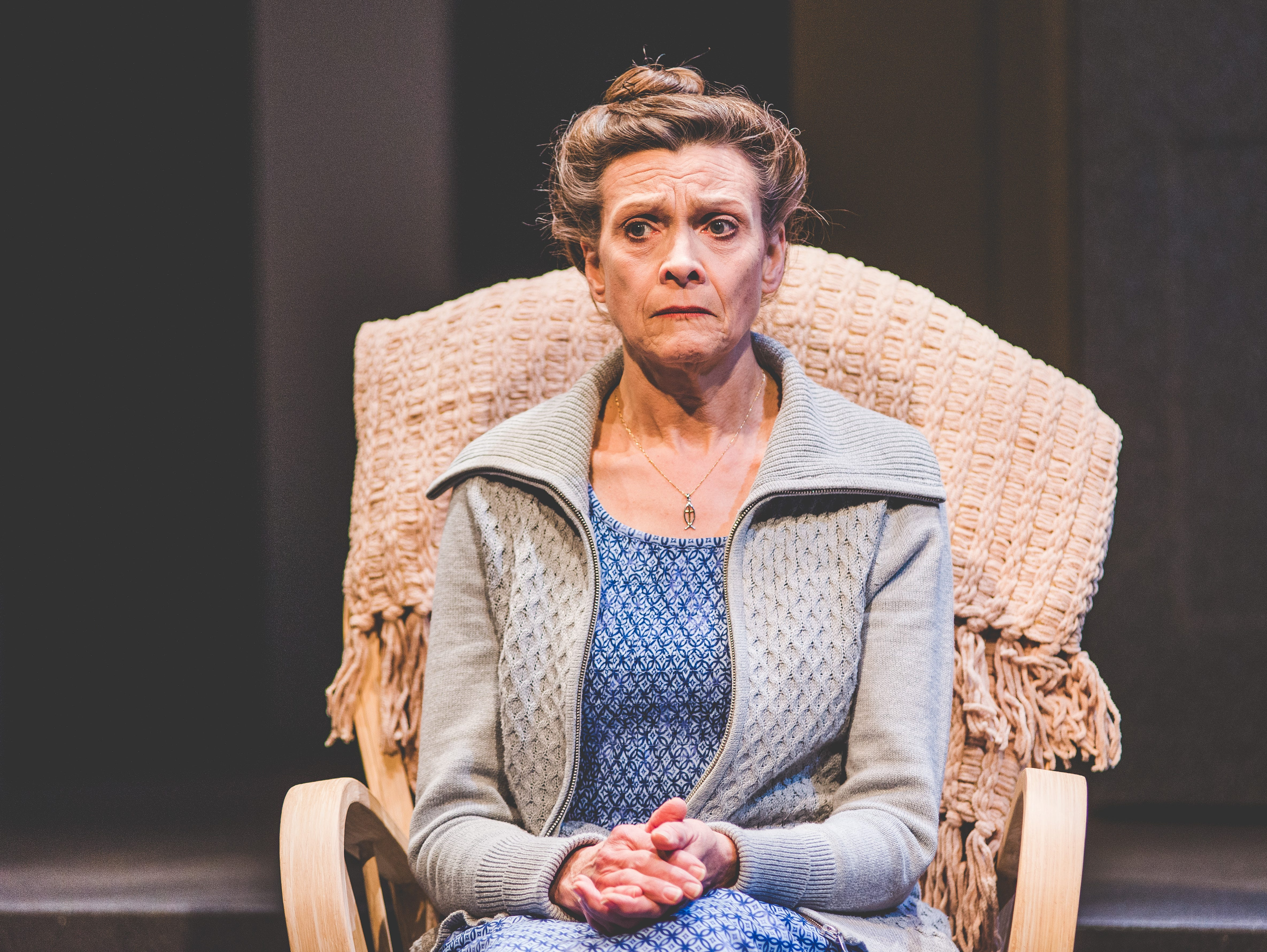 """Carrie Hitchcock plays a matriarch in Next Act's """"How to Write a New Book for the Bible."""""""