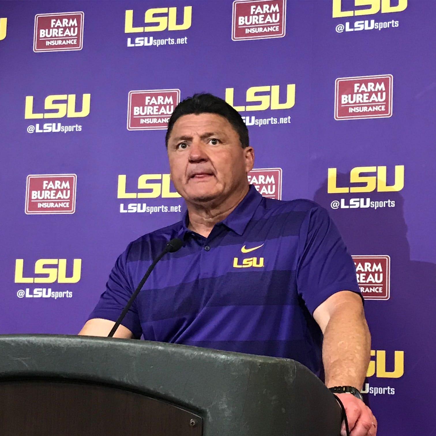 LSU's Coach O dodges question about endorsing Gov. Edwards