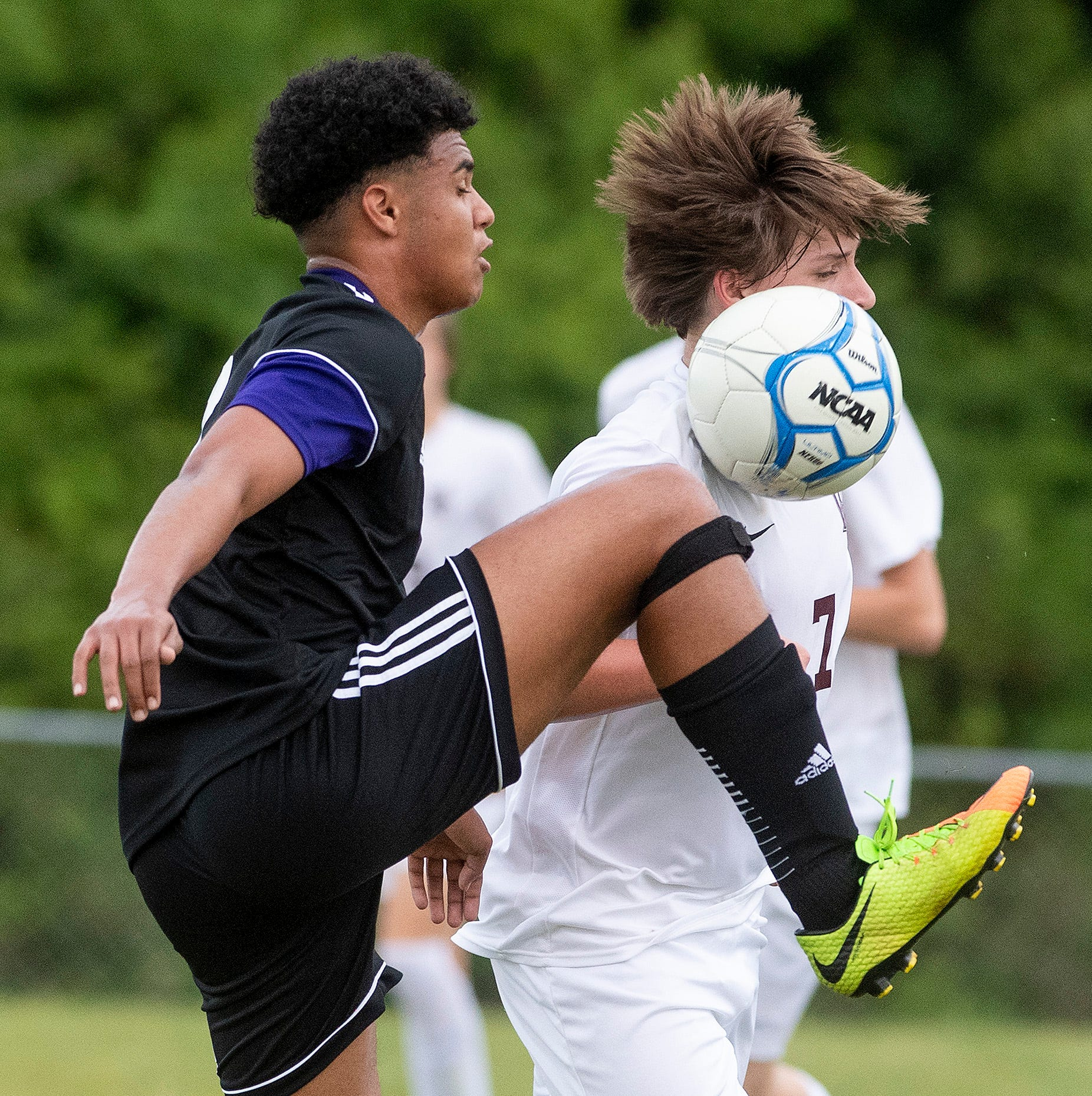 Prattville Christian's Michael McCarty against Washington County on the PCA campus in Prattville, Ala., on Friday April 5, 2019.