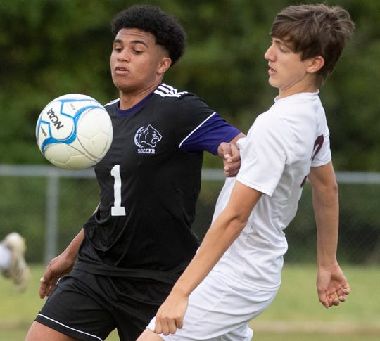 Prattville Christian's Michael McCarty (1)  against Washington County on the PCA campus in Prattville, Ala., on Friday April 5, 2019.