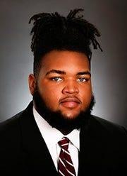 Alabama freshman defensive tackle DJ Dale (mug courtesy of Alabama athletics)
