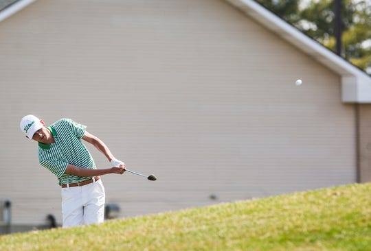 Yorktown's Carson Orr, shown here earlier this season, earned medalist honors Saturday at the Delaware County Tournament.