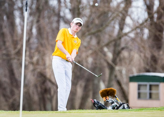 FILE -- Monroe Central's Ryder Jones earned medalist honors Saturday in the Randolph County Golf Tournament.
