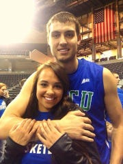 Whitney Fieler and Chase Fieler while at Florida Gulf Coast.