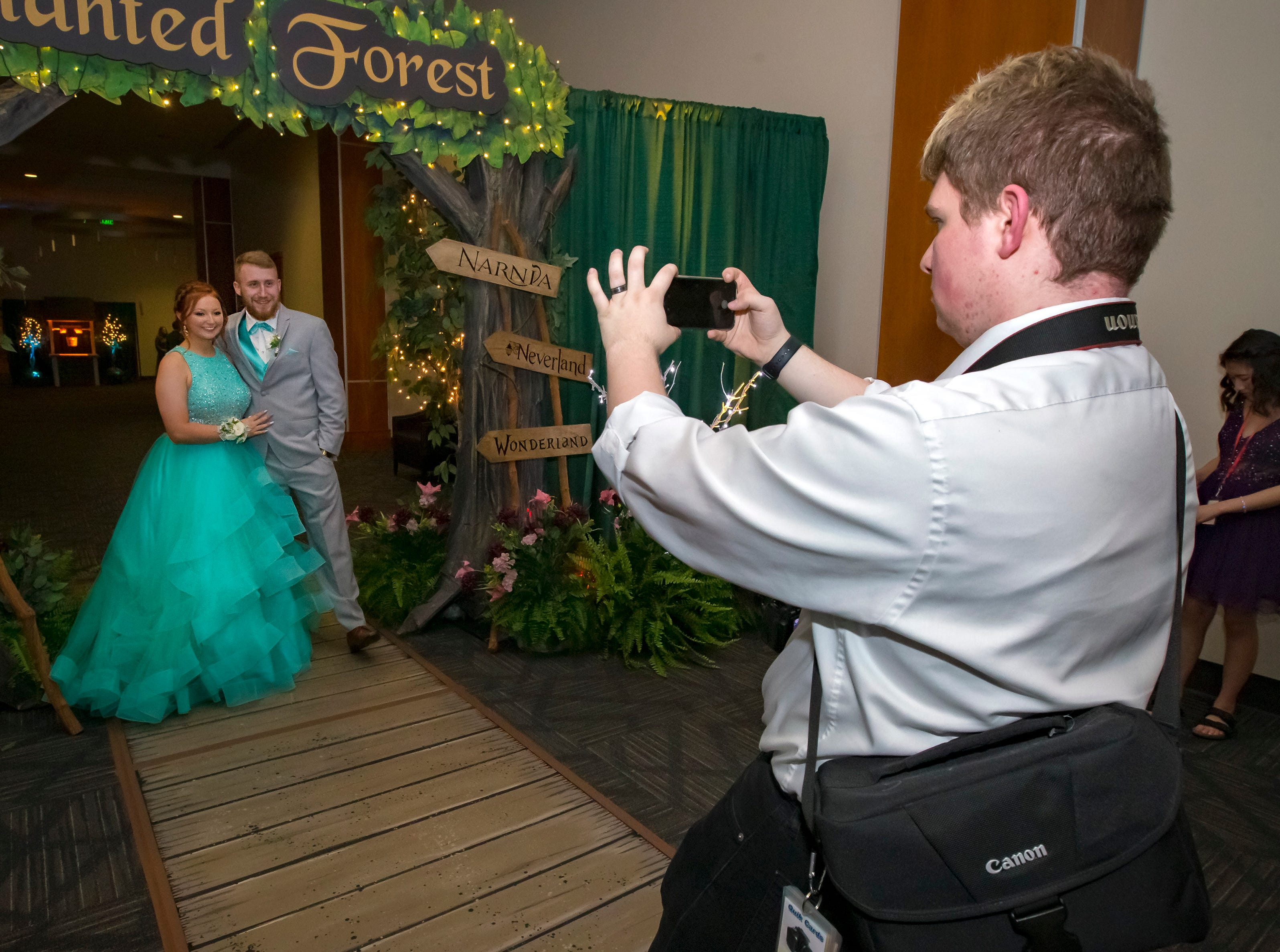 Having their photo taken after arriving at the Stewarts Creek High School prom held at MTSU, Friday, April 5, 2019.JIM DAVIS/for the DNJ