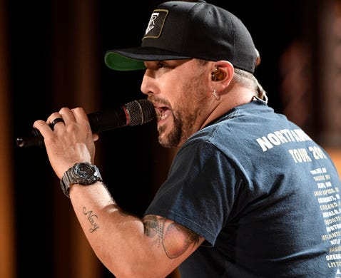 4c73d15ab1f81 Jason Aldean rehearses for his performance at the 54TH Academy of Country  Music Awards Friday