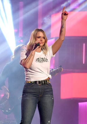 LAS VEGAS, NEVADA - APRIL 05: Miranda Lambert rehearses onstage during the 54th Academy Of Country Music Awards at MGM Grand Garden Arena on April 04, 2019 in Las Vegas, Nevada. (Photo by Kevin Winter/ACMA2019/Getty Images for ACM)