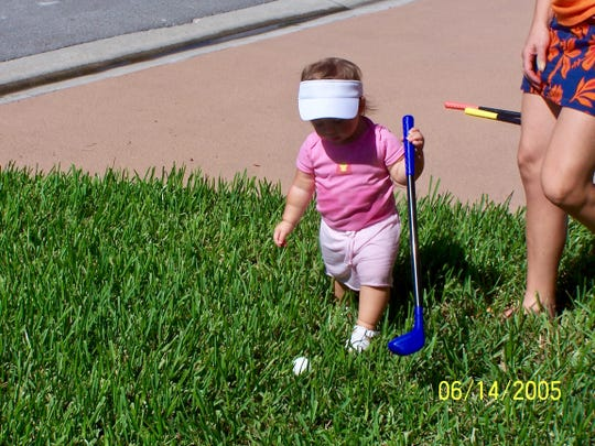 Fort Myers' Talia Rodino as a toddler. On Sunday, Rodino will be playing in the Drive, Chip and Putt National Finals at Augusta National Golf Club in Augusta, Ga.
