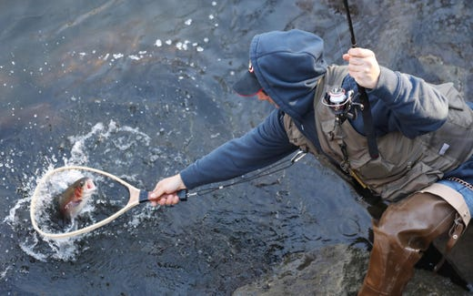 First day of trout season brings out hopeful anglers