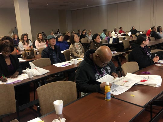 Attendees were largely people who look afterparents, spouses, family members and friends affected by Alzheimer's disease.