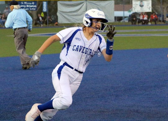 Jennifer Munro rounds third base on her way to score against Artesia on Friday. Munro was 2-for-3 with an RBI and one run scored in Carlsbad's 5-1 win.
