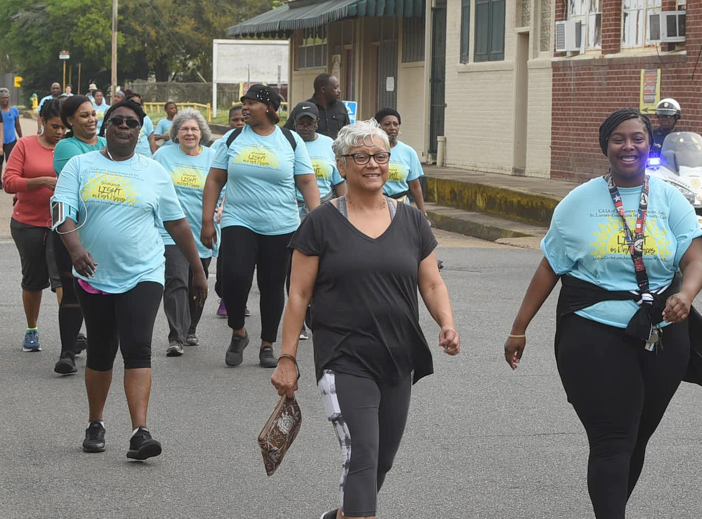 Community Crime and Abuse Prevention March sponsored by CASA St. Landry-Evangelne Parish and the St. Landry-Evangeline Sexual Assault Center.