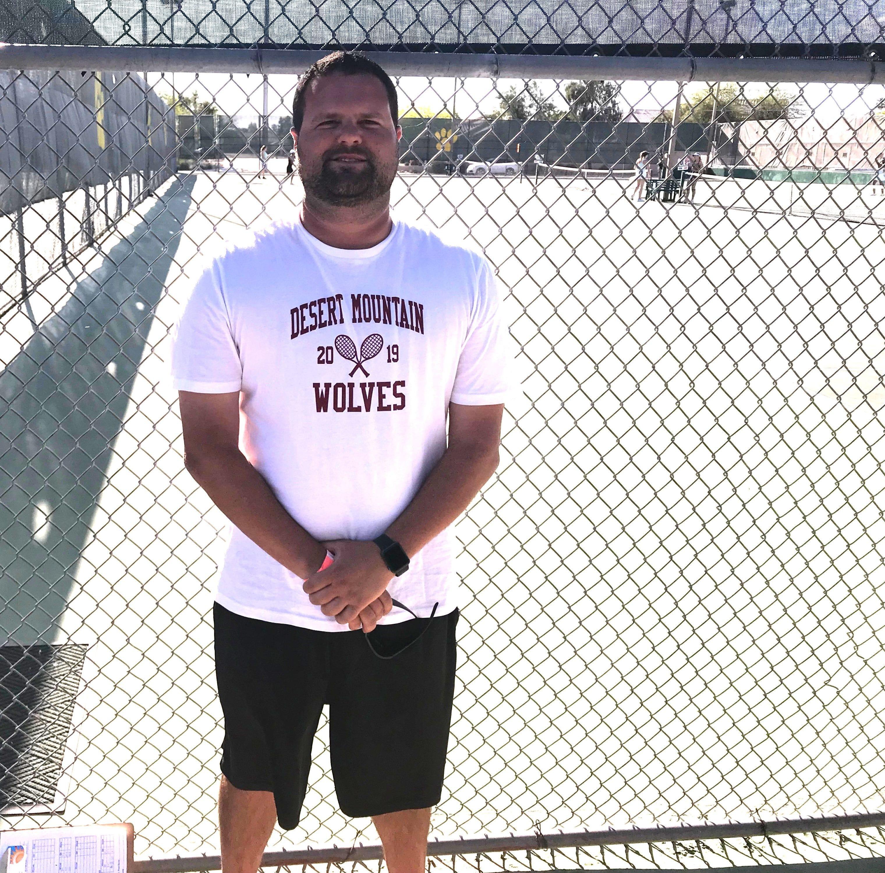 Desert Mountain varsity girls tennis head coach Mark Schumaker