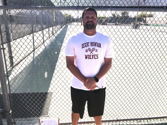 Desert Mountain varsity girls tennis head coach Mark Schumaker