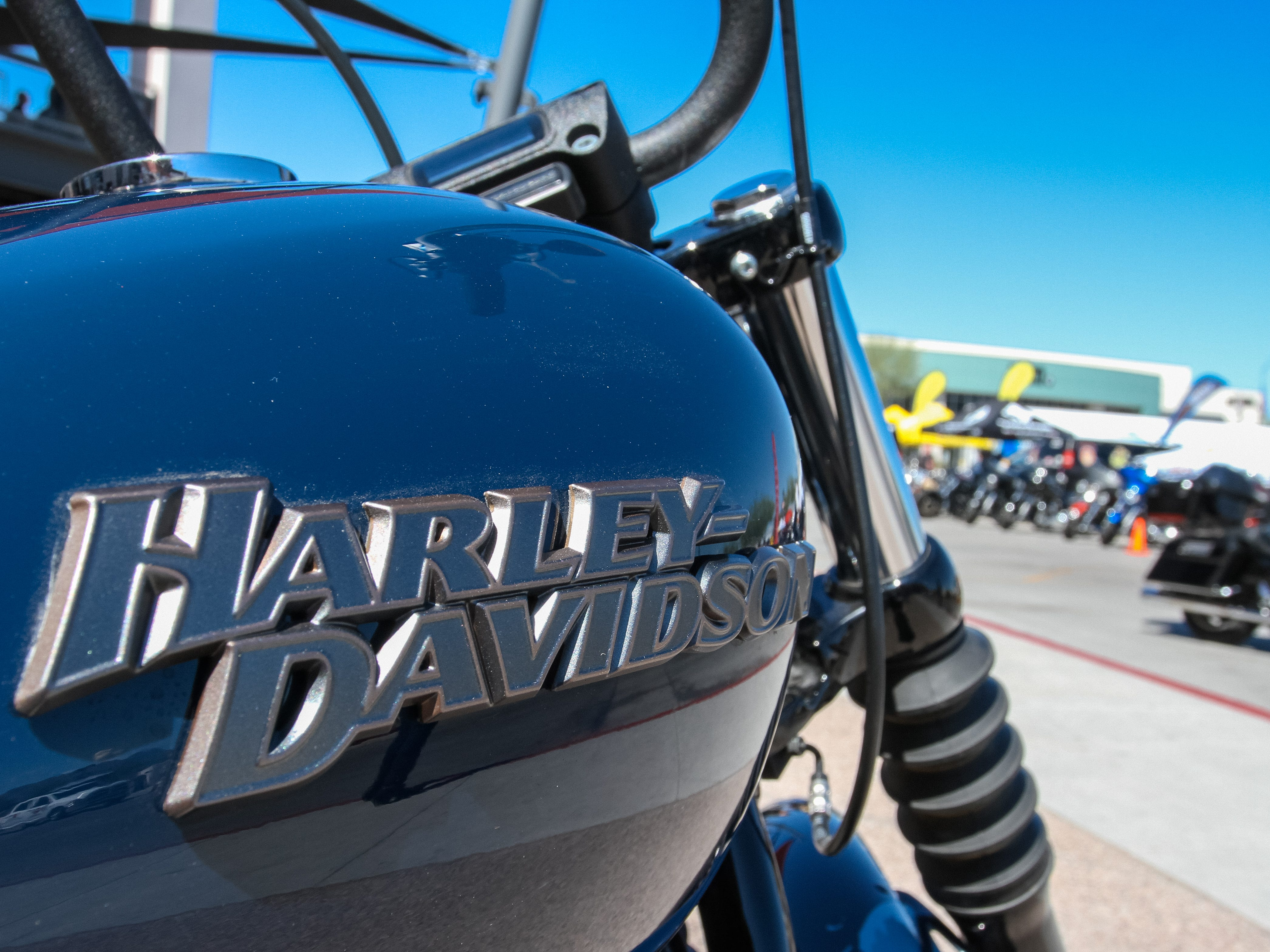 Riders from all over Arizona and surrounding states gather at the Harley Davidson of Scottsdale in Scottsdale on April 6, 2019.
