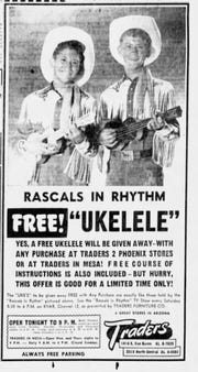 This ad featuring a young Wayne Newton and his older brother, Jerry, appears in The Arizona Republic edition of June 15, 1955.