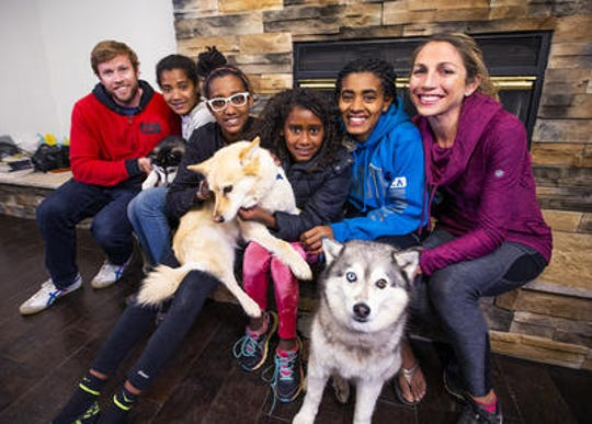 Sara and Ryan Hall of Flagstaff adopted four Ethiopian sisters in 2015.  Their daughters, L-R, are Mia, Jasmine, Lily and Hana.
