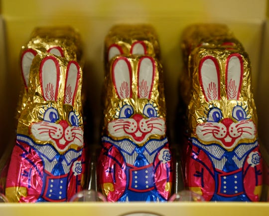 Chocolate bunnies for Easter from Adams Fairacre Farms in the Town of Poughkeepsie on April 5, 2019.