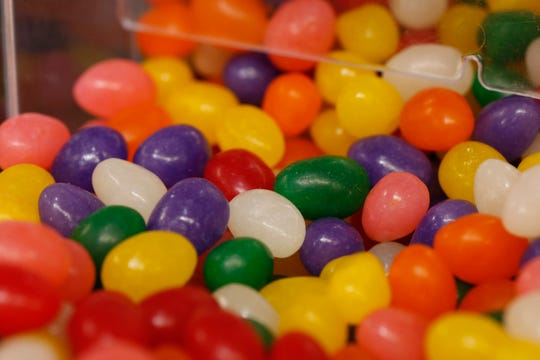 Bulk jelly beans on sale for Easter from Adams Fairacre Farms in the Town of Poughkeepsie on April 5, 2019.