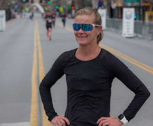Liz Lyles won the half-marathon on Saturday in Reno.