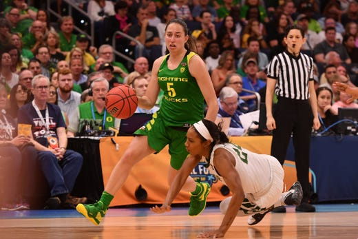 The Oregon Ducks fall to Baylor in the women's Final Four