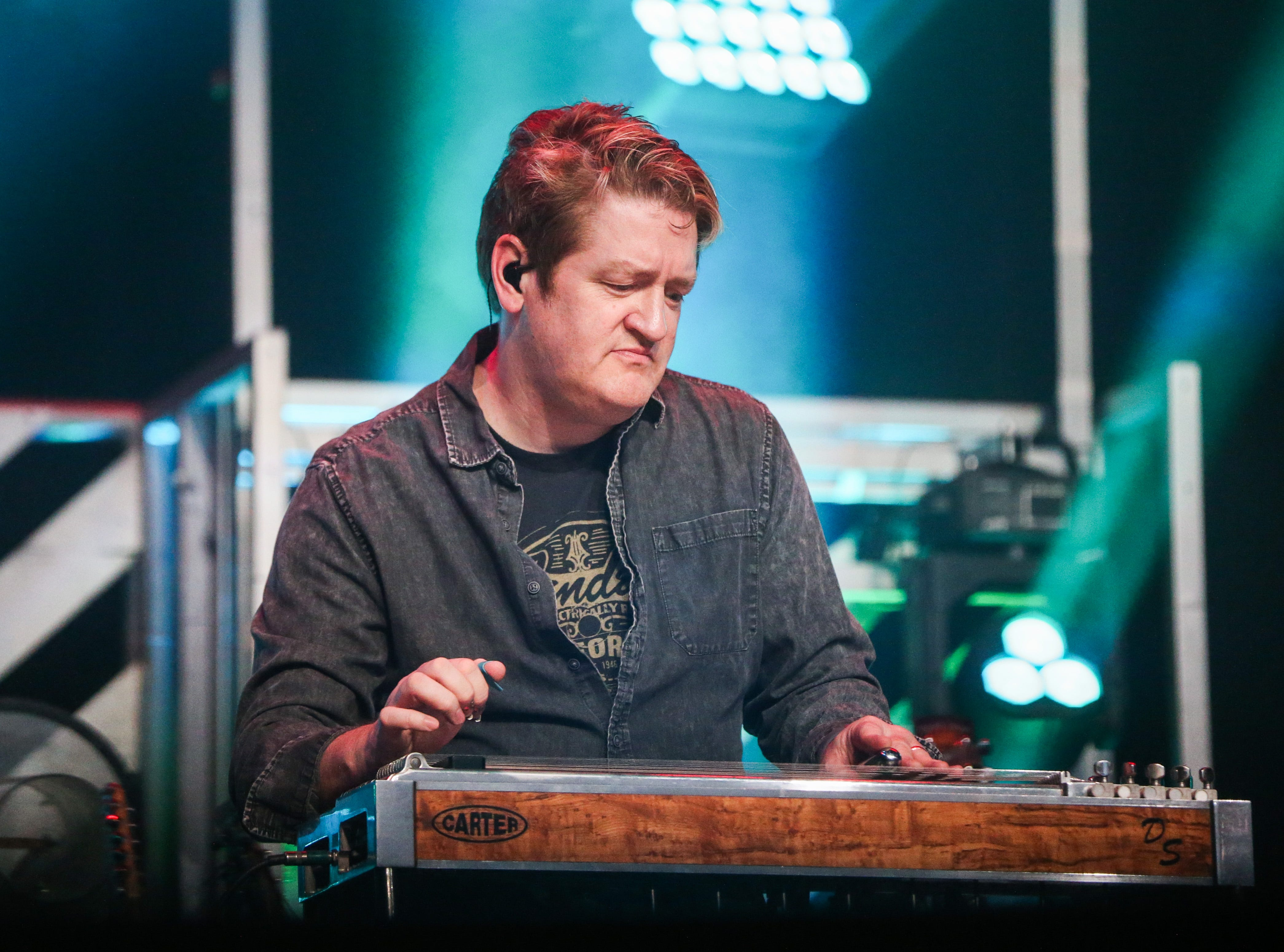 Josh Turner band member plays during the concert Friday, April 5, 2019, at Murphey Performance Hall.