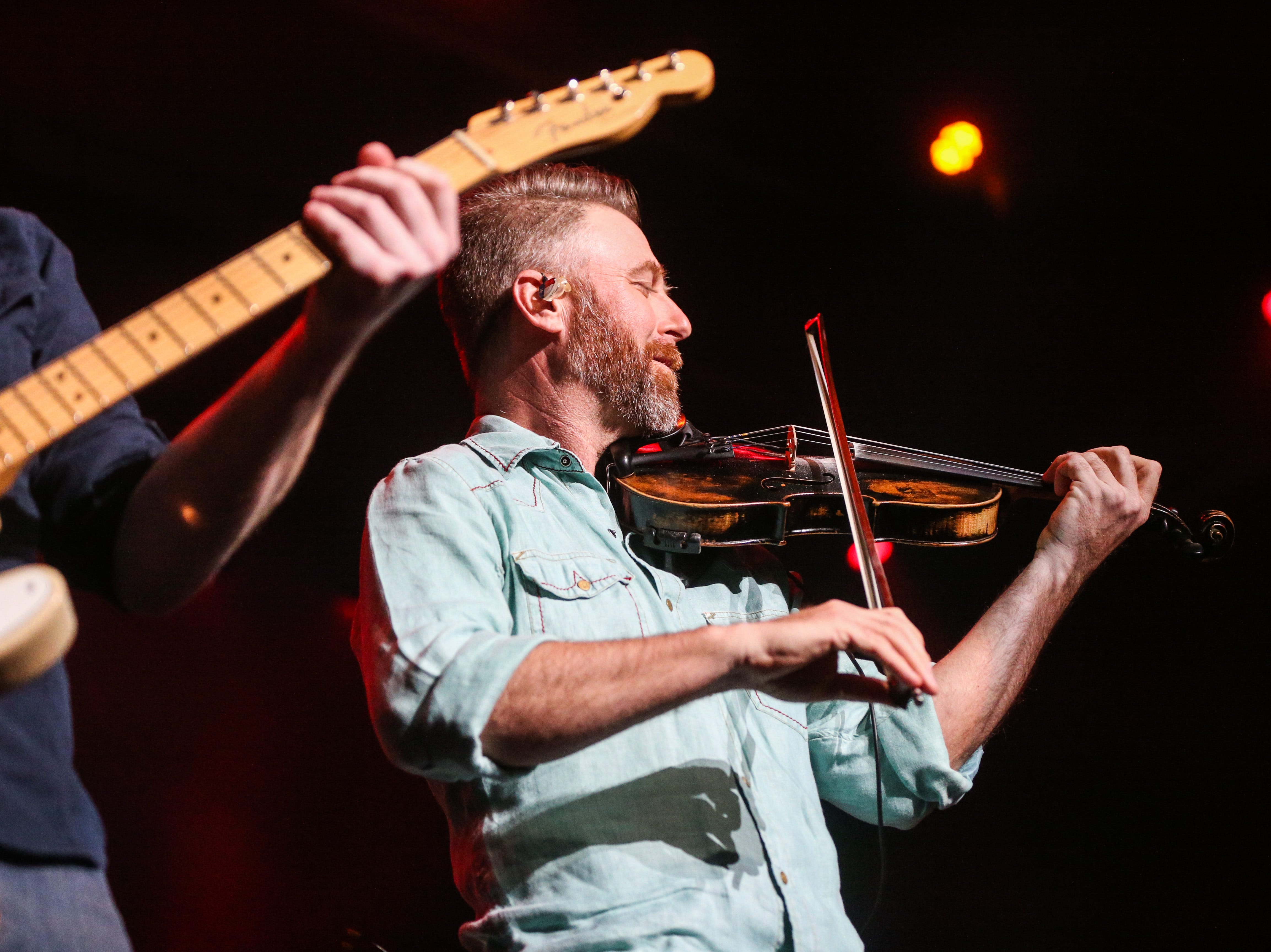 Josh Turner band member performs during the concert Friday, April 5, 2019, at Murphey Performance Hall.