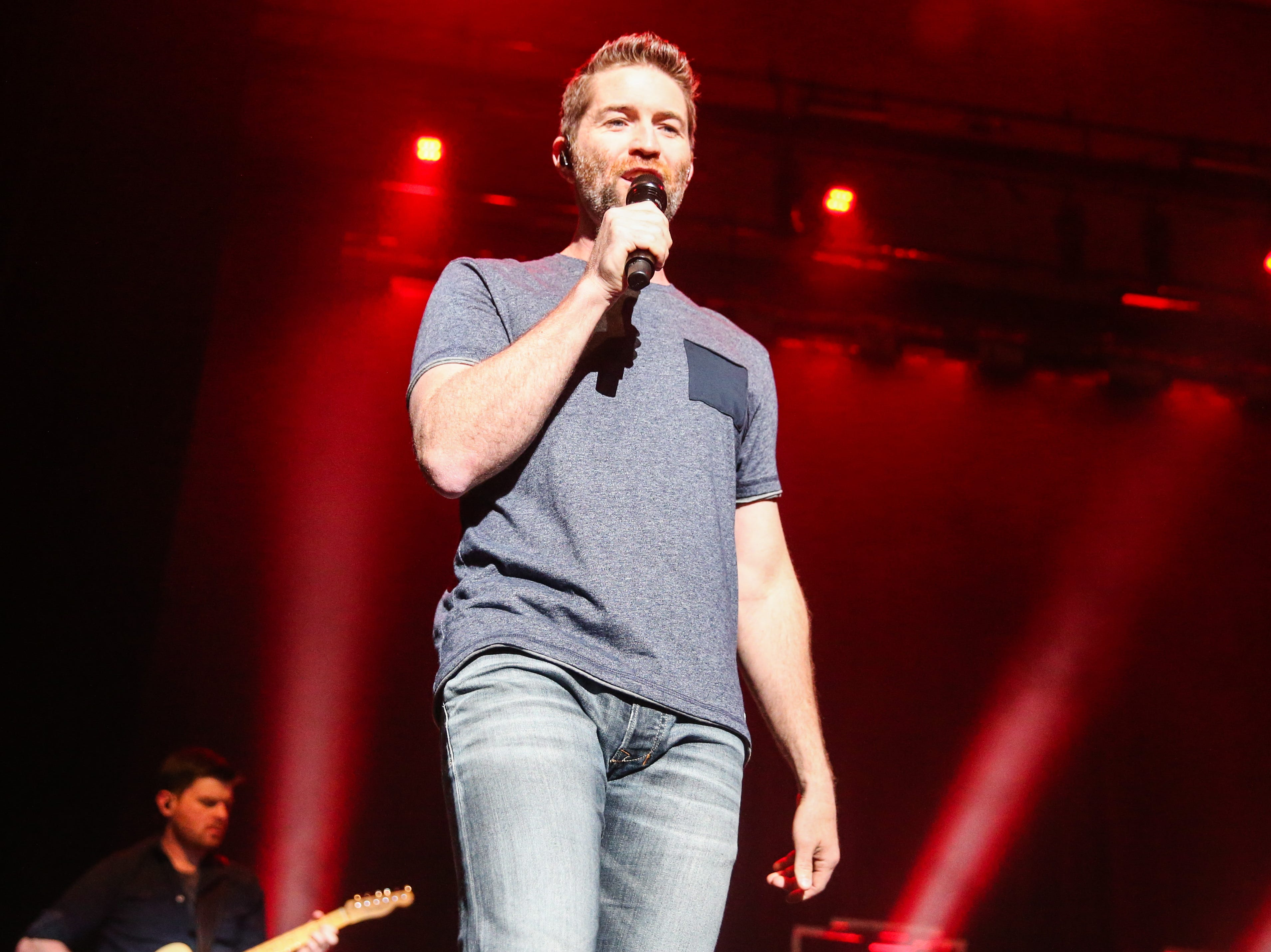 """Josh Turner sings """"Time is Love"""" to start off the concert Friday, April 5, 2019, at Murphey Performance Hall."""