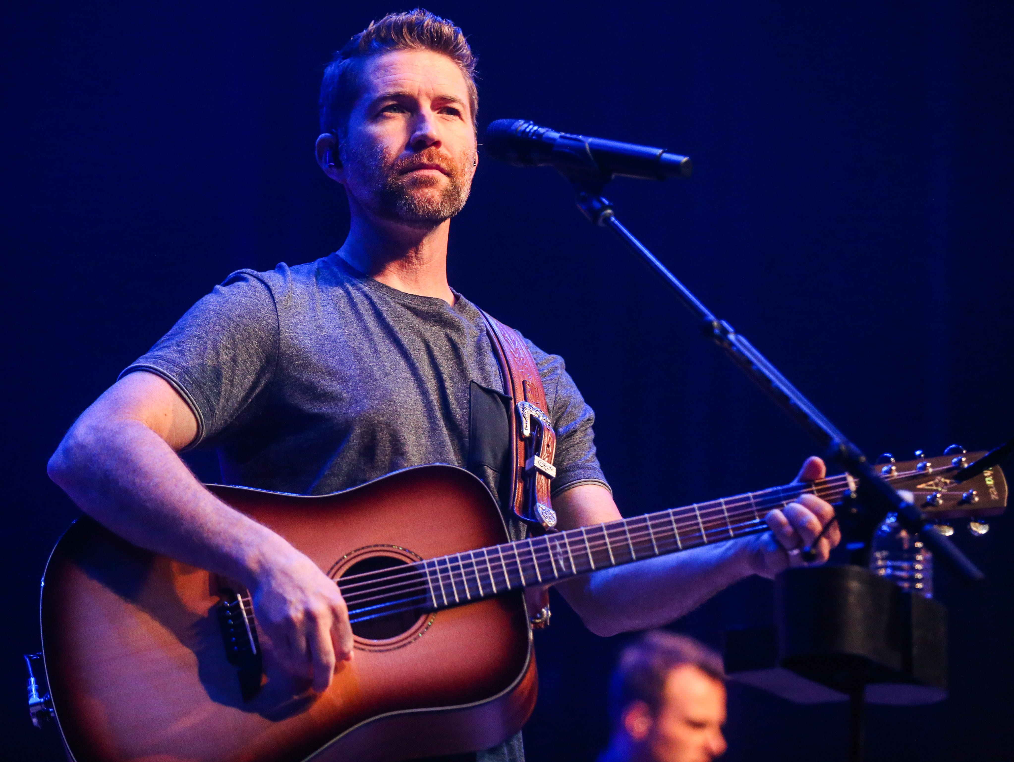 """Josh Turner sing """"Me & God"""" during the concert Friday, April 5, 2019, at Murphey Performance Hall."""