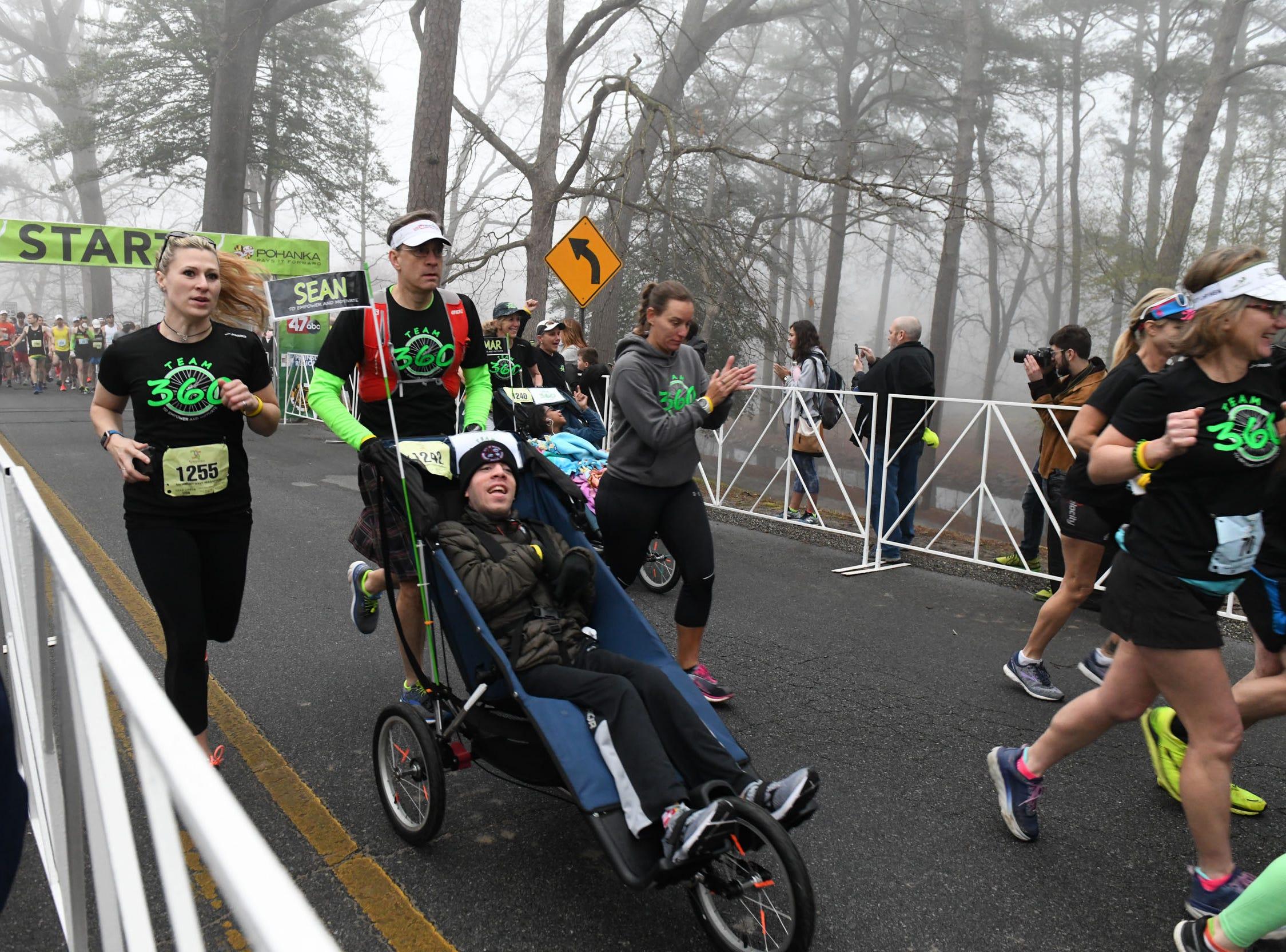 Team 360 starts the 2nd Salisbury Marathon/ Half Marathon/ 5k kicked off Saturday, April 6, 2019 at the City Park.