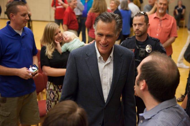 Sen. Mitt Romney speaks to St. George residents at Dixie State University Friday, April 5, 2019.